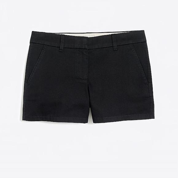 J. Crew Factory Pants - J. Crew cotton black 3 inch shorts size 6